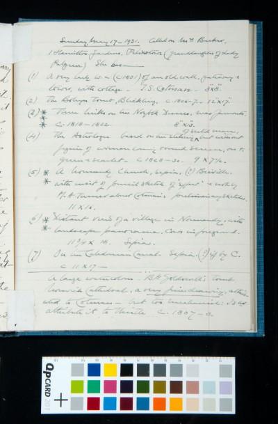 SD Kitson diary entry Sunday 17 May 1931