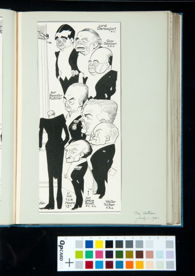 Drawing of dinner guests from *The Tatler*, 1 July 1931