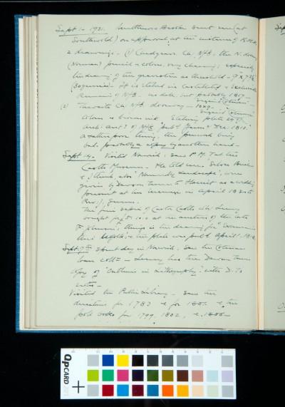 Kitson's diary entries 1 September-20 October 1931