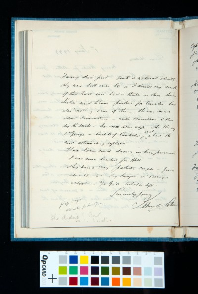 Letter to Kitson from J. S. Cotman of Reading concerning his family tree, 1 Jan. 1933 (2)
