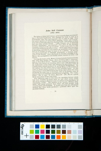 Kitson's essay on Cotman in the catalogue of the exhibition of the Oxford Art Society, 21 March-20 April 1933 (1)