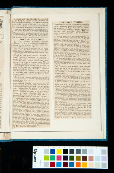 Kitson's two articles in *The Times* on William Chambers, 19 and 20 May 1933 (4)