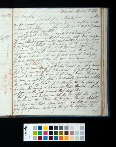 Letter of Arthur Dixon to John Joseph Cotman, 7 April 1834