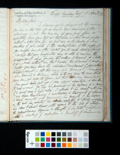 Letter of Arthur Dixon to John Joseph Cotman, 13 April 1834