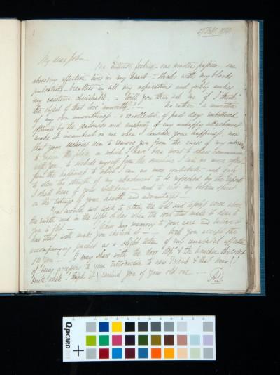 Letter of Arthur Dixon to John Joseph Cotman, 27 February 1834