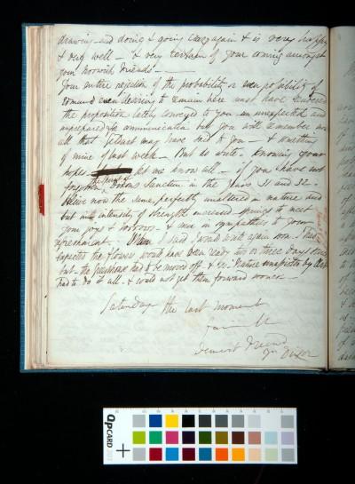 Letter of Arthur Dixon to John Joseph Cotman, 14 June 1834
