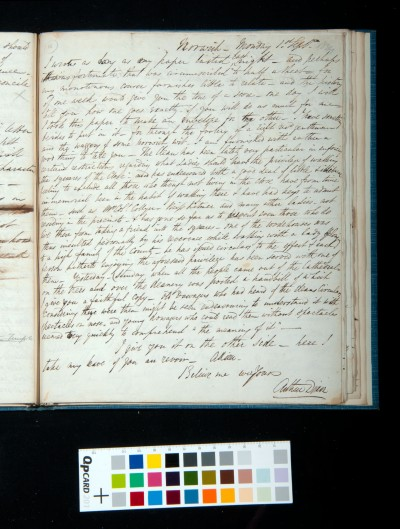 Letter [2] of Arthur Dixon to John Joseph Cotman, 1 September 1834