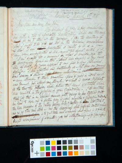 Letter of Arthur Dixon to John Joseph Cotman, 8 March 1834