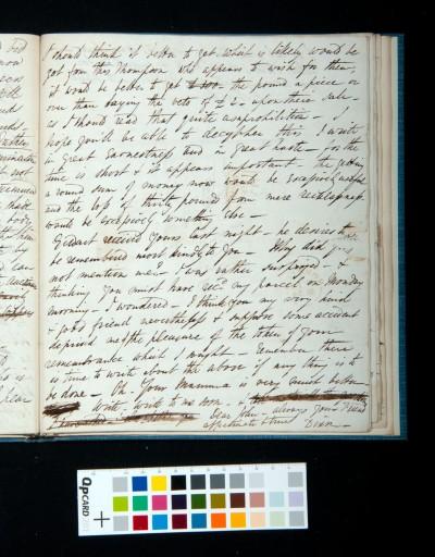 Letter of Arthur Dixon to John Joseph Cotman, 10 September 1834