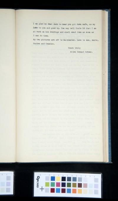 Letter (part?) from M.E. Cotman to J. J. Cotman